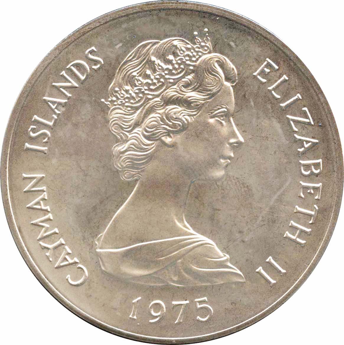 ケイマン諸島 50ドル銀貨 1975 ...