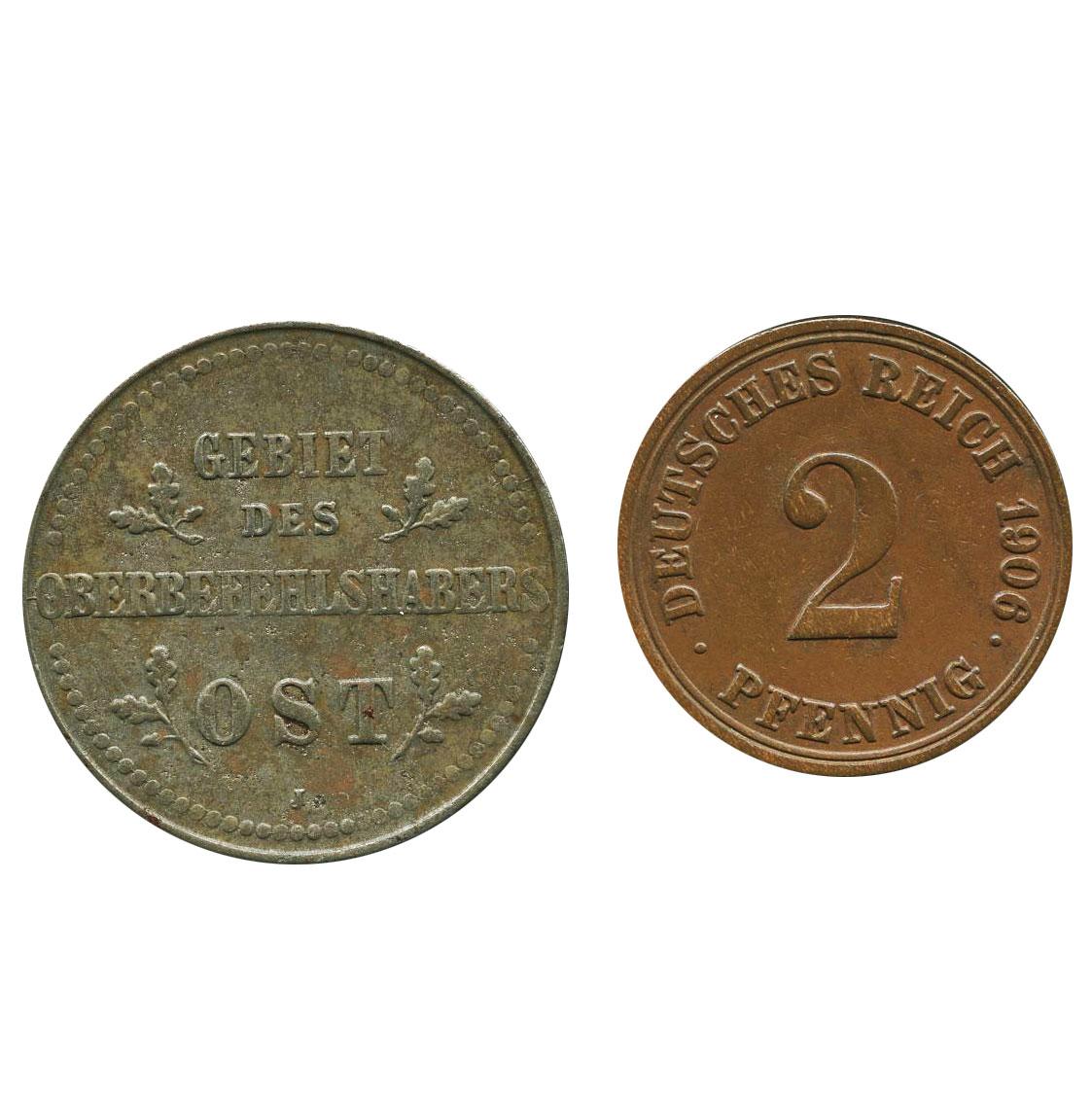 ドイツ帝国 ①2ペニヒ銅貨 1906A ...