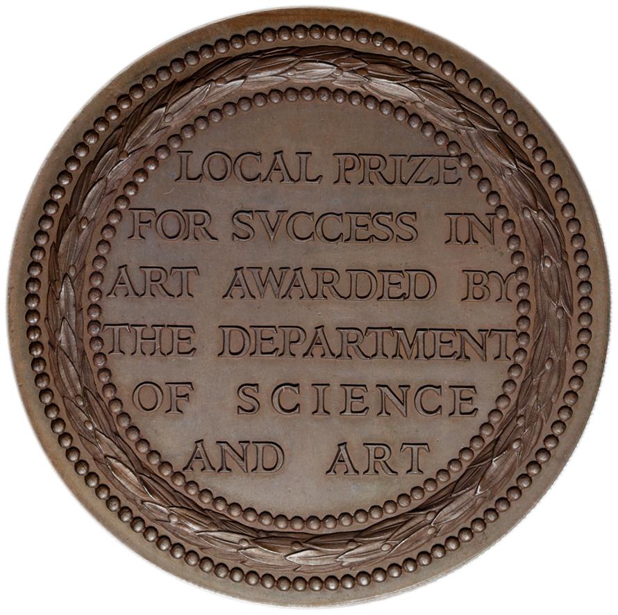 イギリス ヴィクトリア(1837-1901) メダル 1856年 銅メダル 表面: W ...